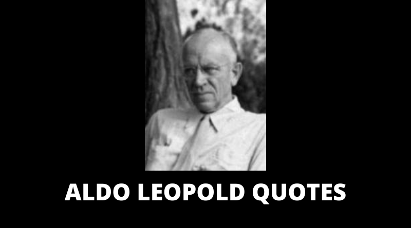 Aldo Leopold Quotes featured