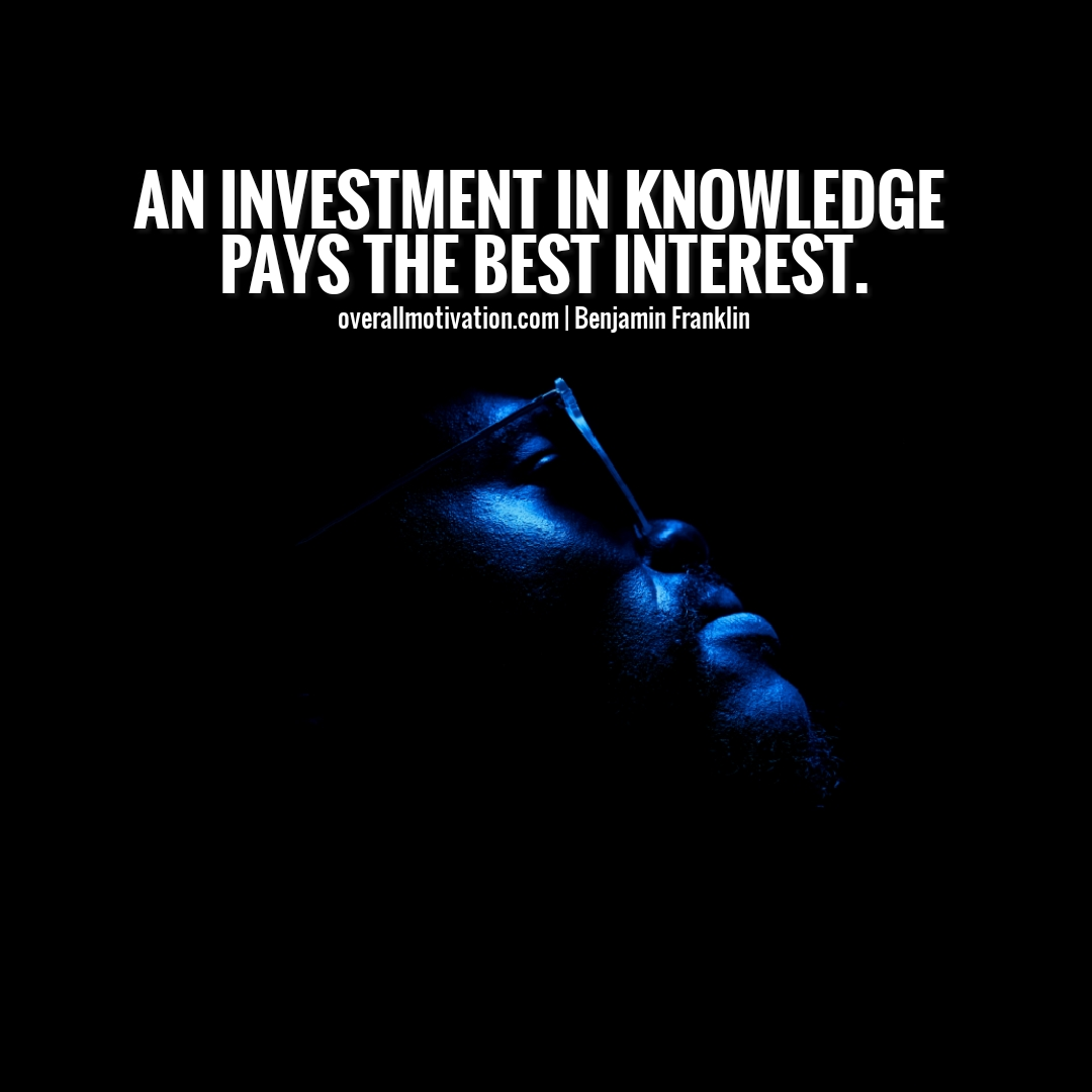 An investment in knowledge money quotes