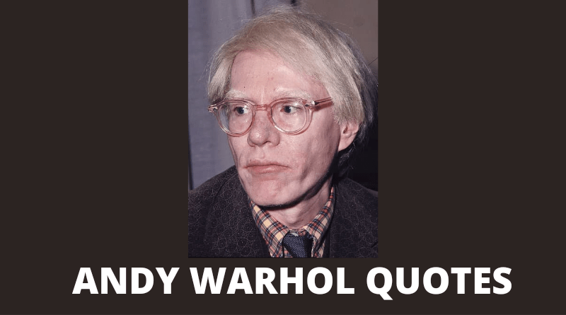 Andy Warhol quotes featured