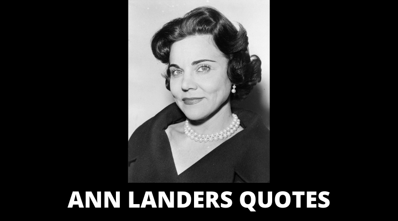 Ann Landers Quotes featured