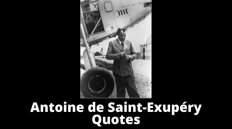 Antoine de Saint Exupery quotes featured