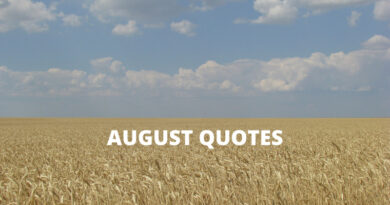 August Quotes Featured