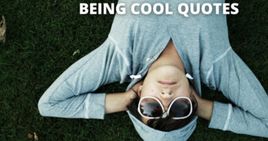 BEING COOL QUOTES FEATURE