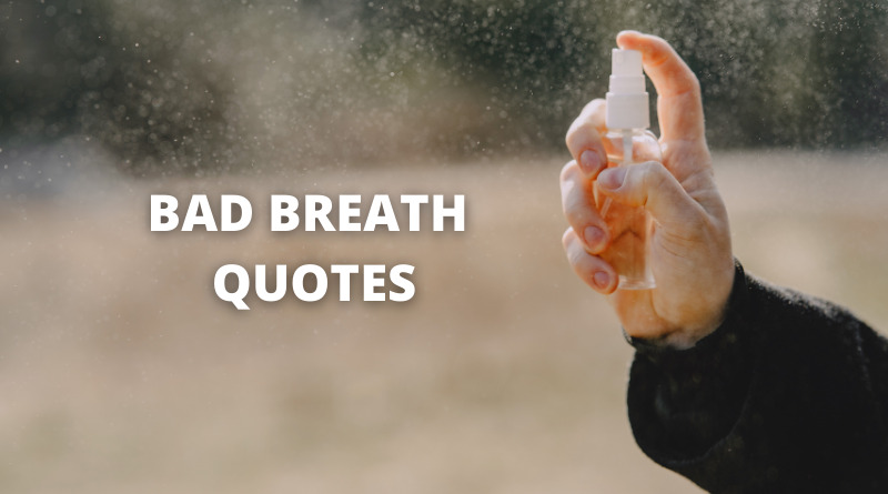 Bad breath quotes featured