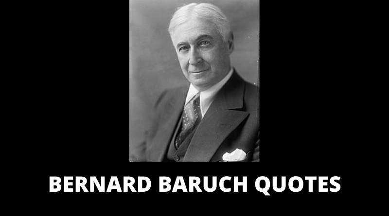 Bernard Baruch quotes featured