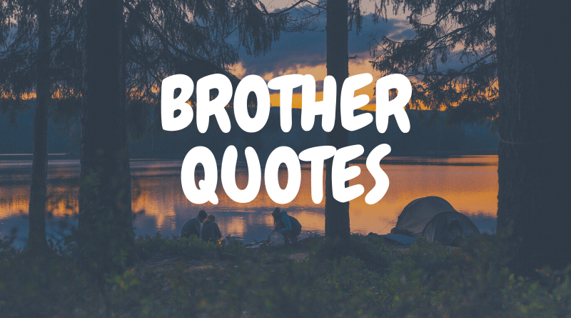 35 Motivational Quotes For Brother Love With Images