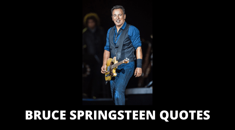 Bruce Springsteen Quotes featured