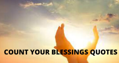 COUNT YOUR BLESSINGS QUOTES FEATURED
