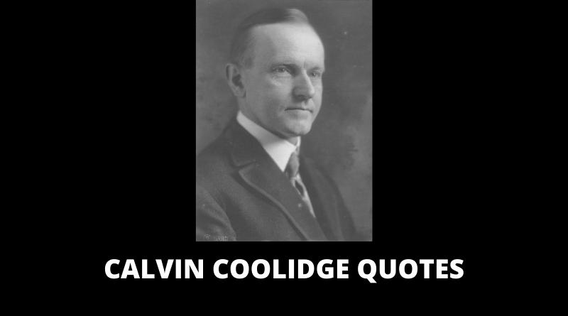 Calvin Coolidge Quotes featured