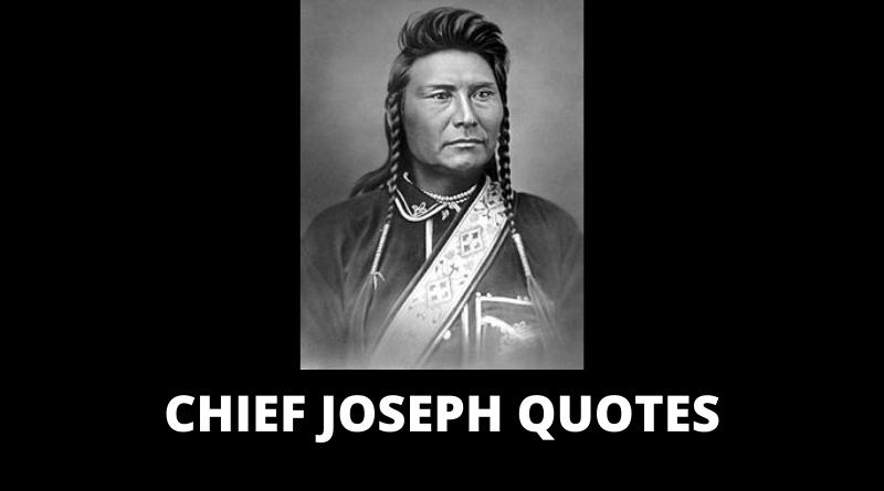 Chief Joseph quotes featured