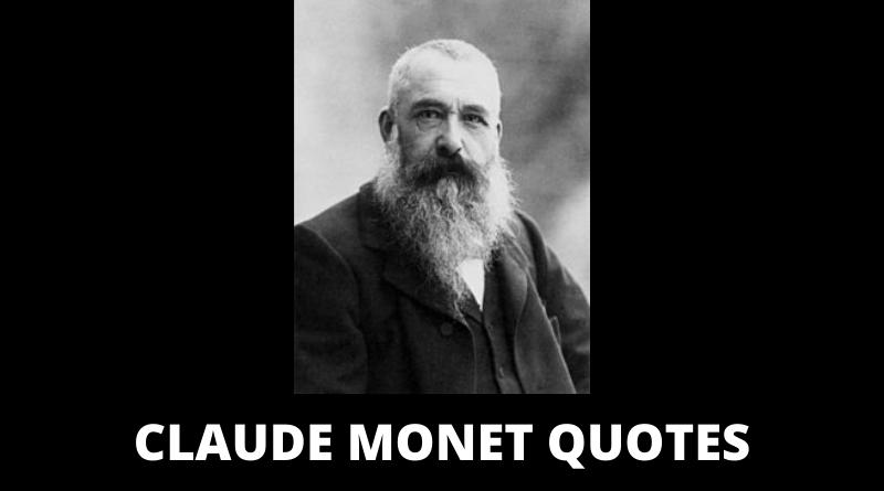 Claude Monet quotes featured