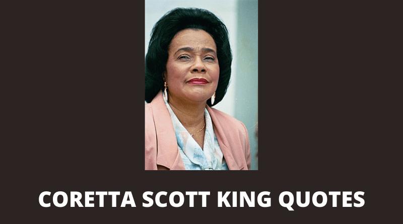Coretta Scott King quotes featured