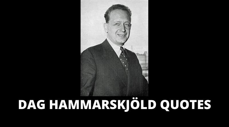 Dag Hammarskjold quotes featured