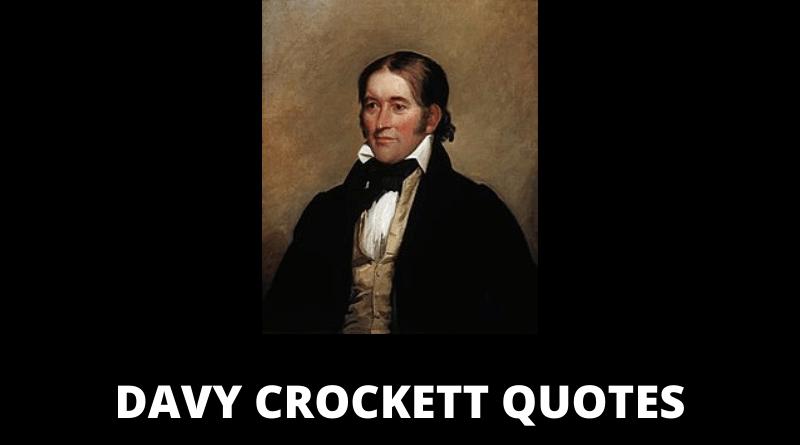 David Crockett quotes featured