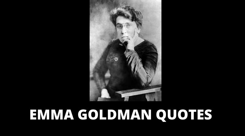 EMMA GOLDMAN QUOTES FEATURED