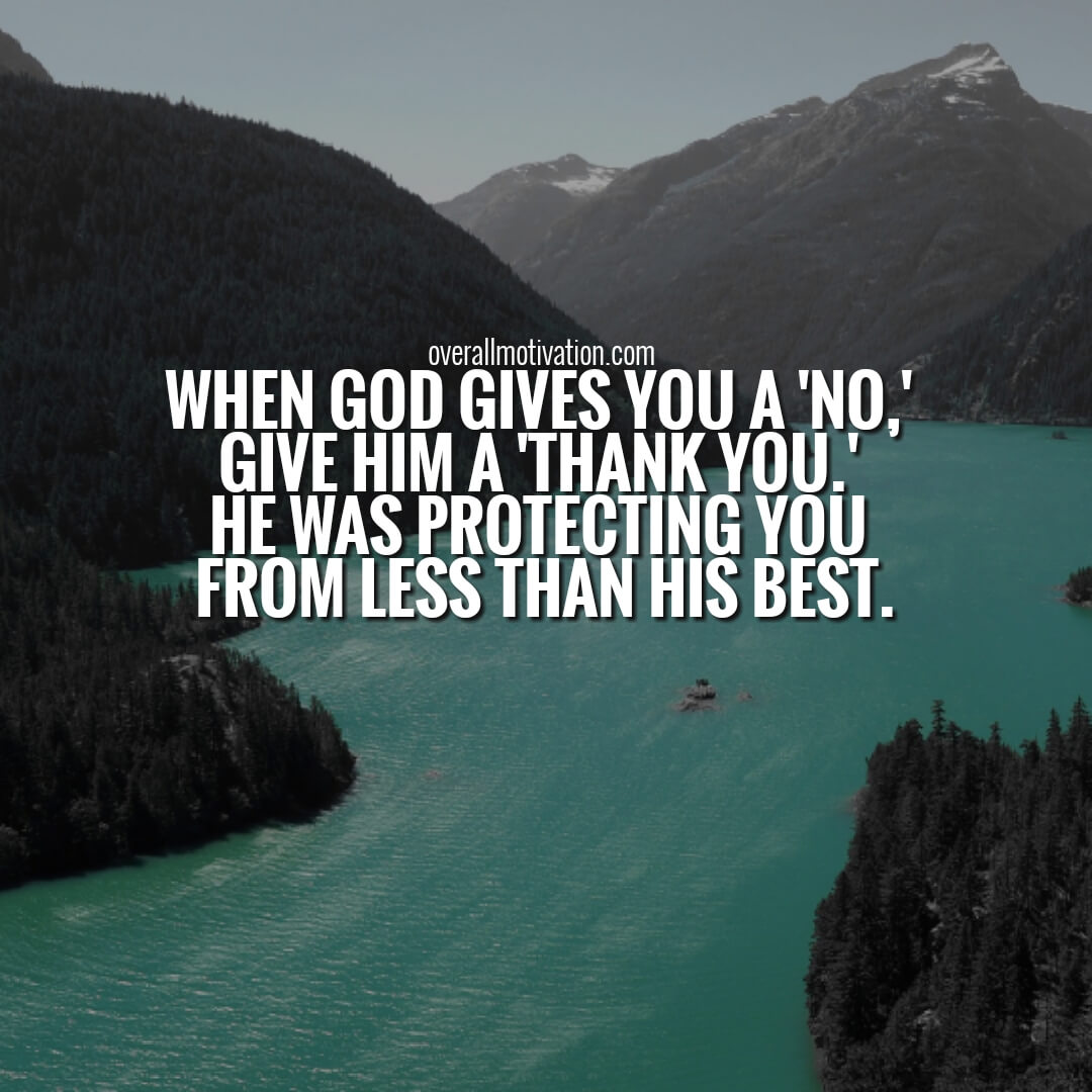 when god gives you a no