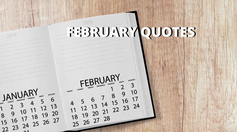 February quotes featured