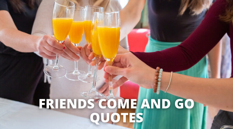 Friends Come and Go Quotes Featured