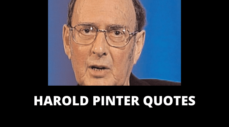 Harold Pinter Quotes featured