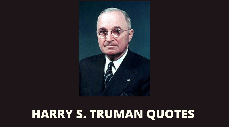 Harry S Truman quotes featured