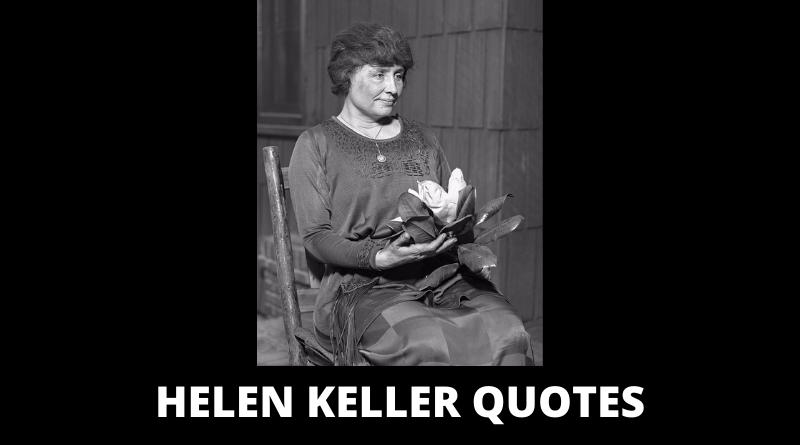 Helen Keller Quotes featured
