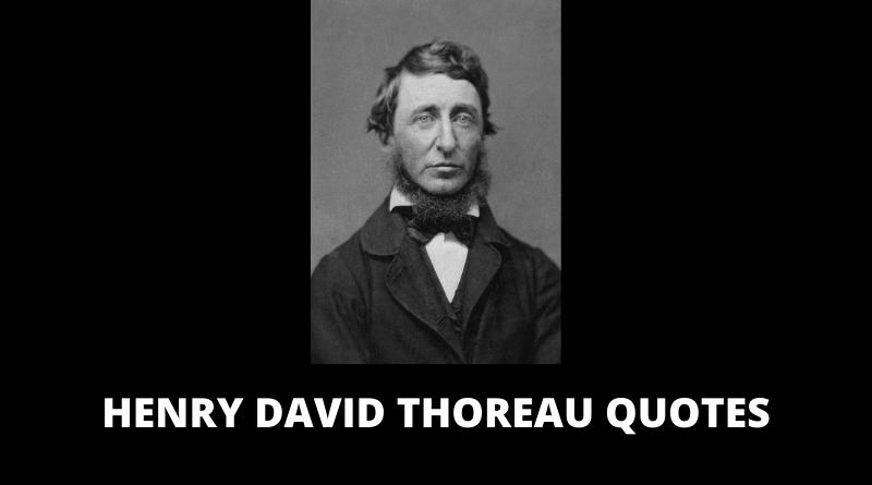 Henry David Thoreau Quotes featured