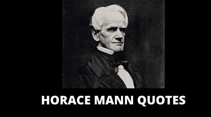 Horace Mann quotes featured