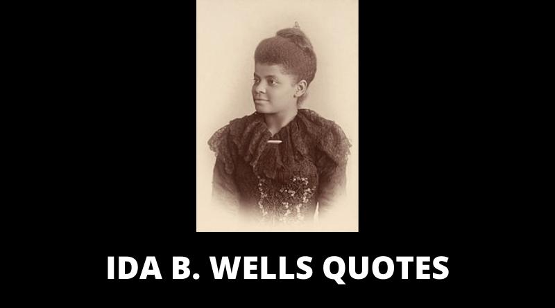 Ida B Wells quotes featured