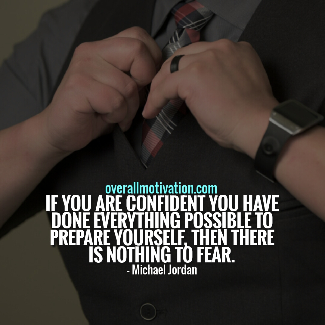 if you are confident