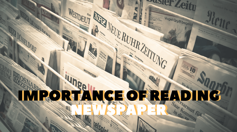Importance of Reading Newspaper featured