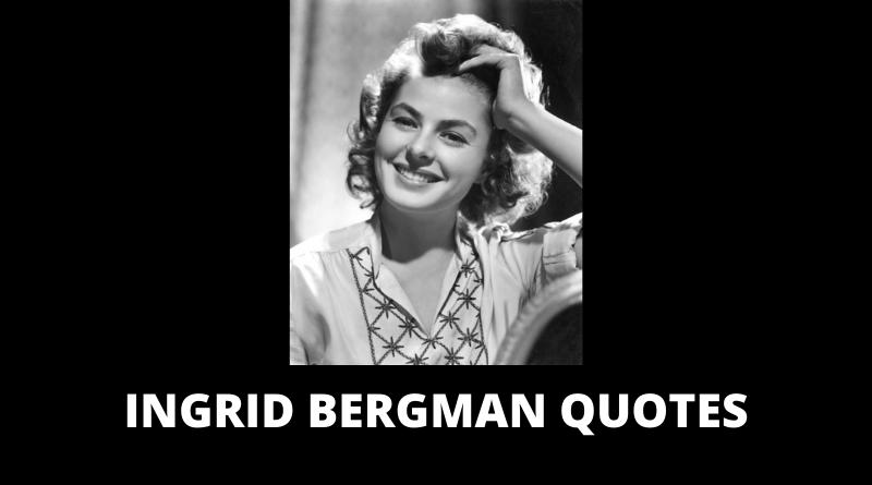 Ingrid Bergman Quotes featured
