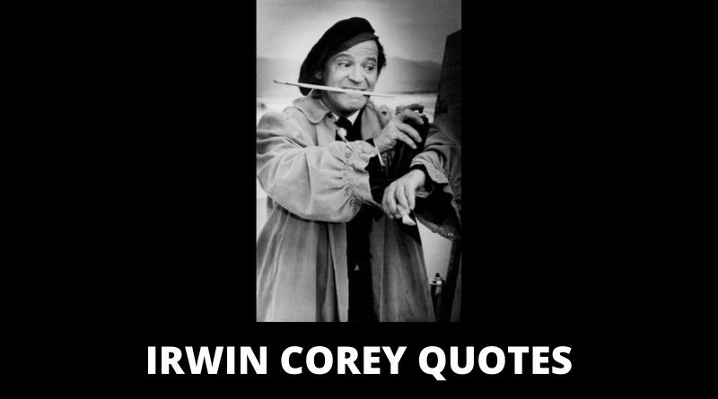 Irwin Corey Quotes featured