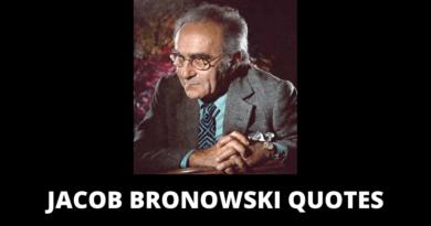 Jacob Bronowski quotes featured
