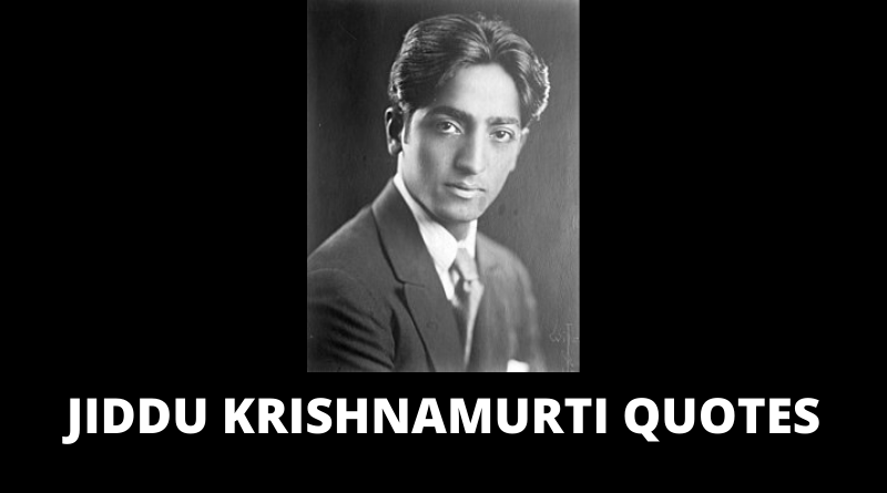 Jiddu Krishnamurti Quotes featured