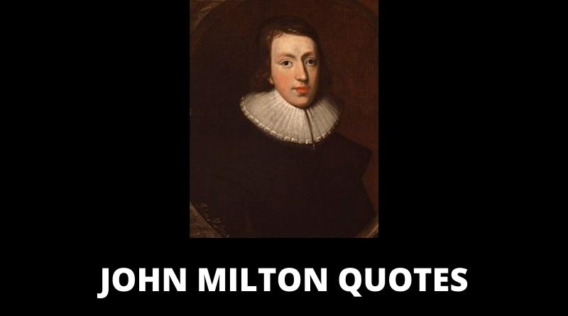 John Milton quotes featured
