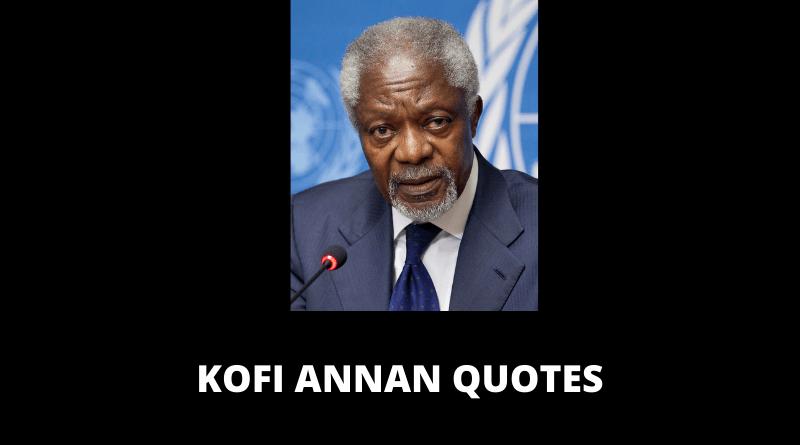 Kofi Annan Quotes featured