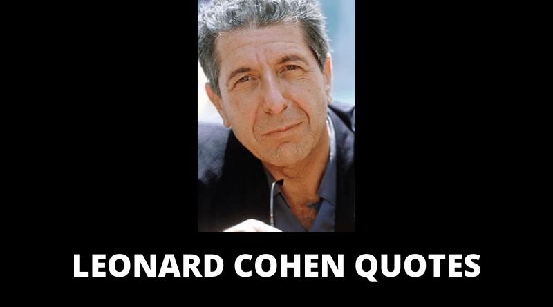 Leonard Cohen quotes featured