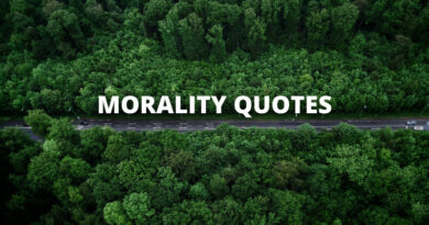 MORALITY QUOTES FEATURE