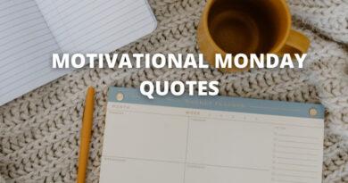 MOTIVATIONAL MONDAY QUOTES FEATURE