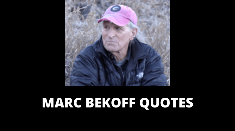 Marc Bekoff quotes featured