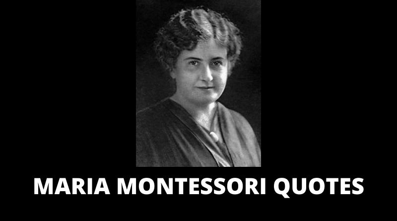 Maria Montessori quotes featured