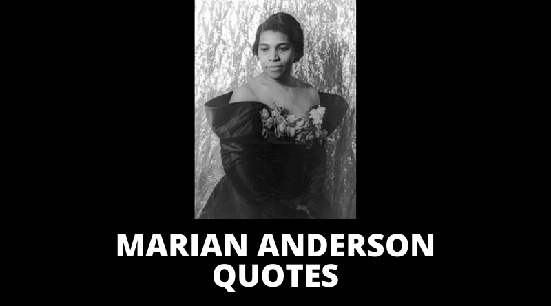 Marian Anderson quotes featured