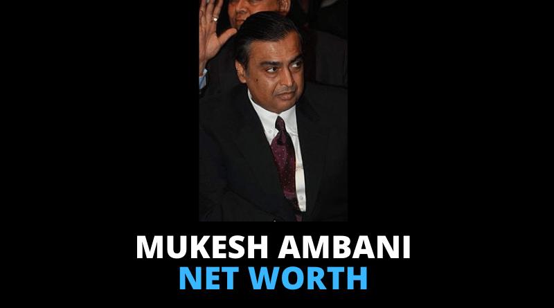 Mukesh Ambani Net worth featured