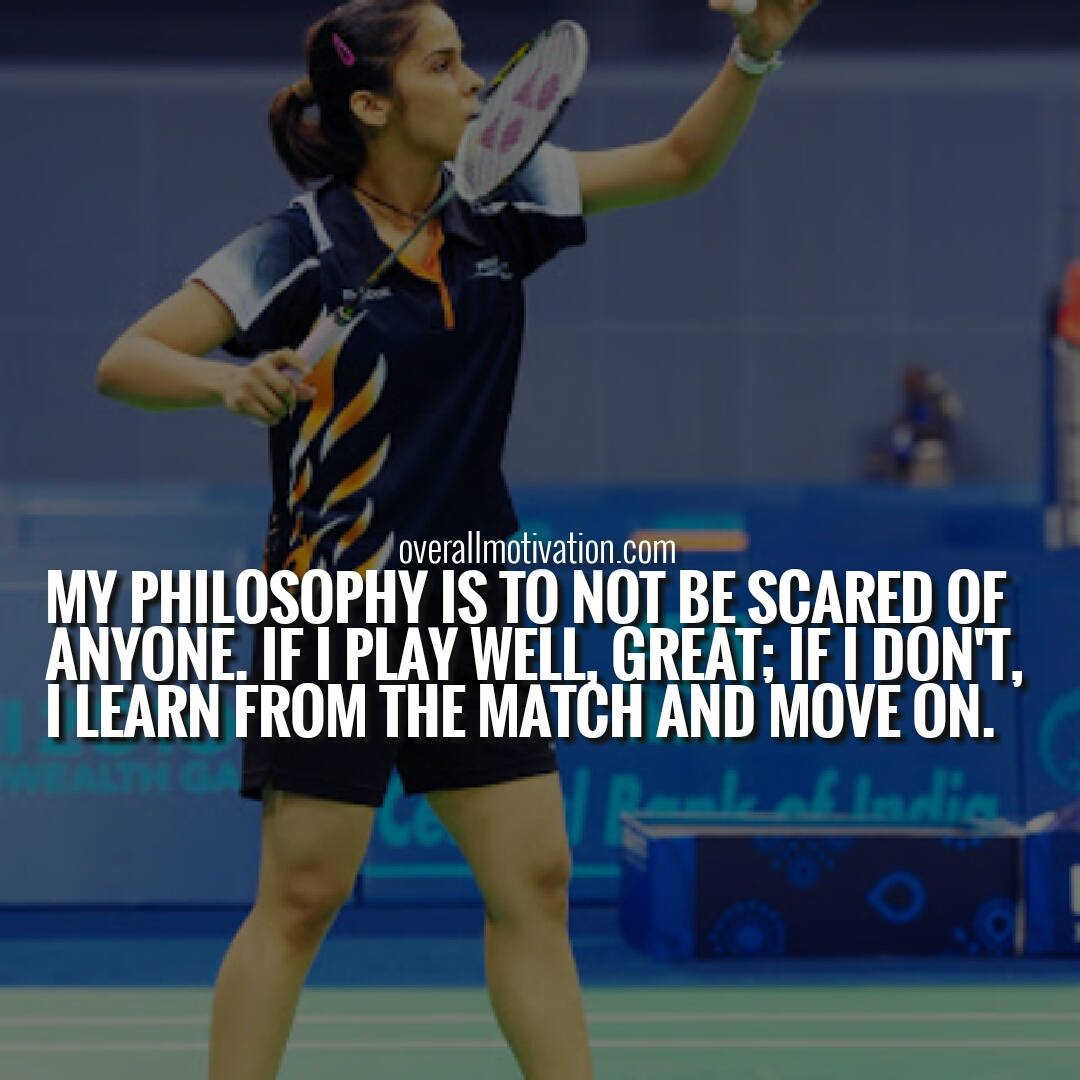 32 Famous Inspirational Saina Nehwal Quotes