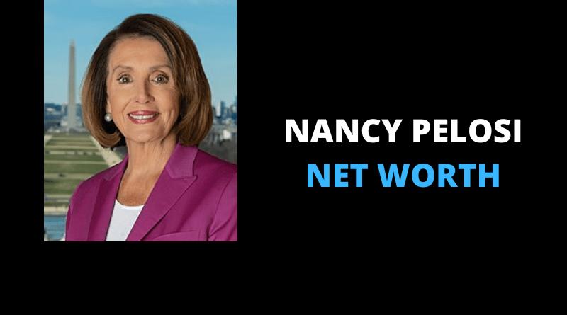 Nancy Pelosi net worth featured