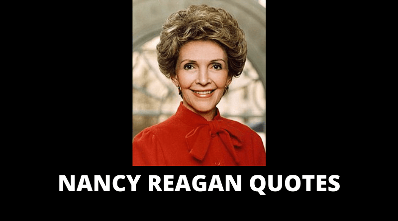 Nancy Reagan quotes featured