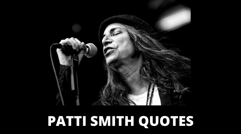 Patti Smith quotes featured