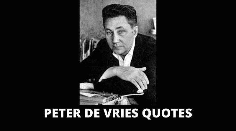 Inspirational Peter De Vries Quotes