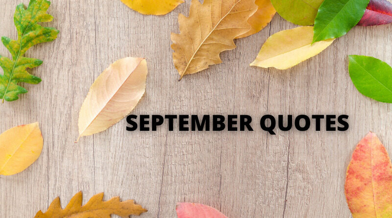 September Quotes featured