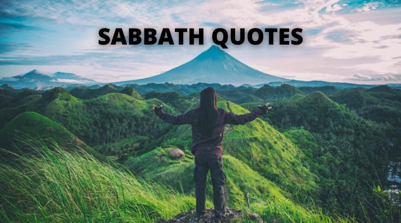 Sabbath quotes featured